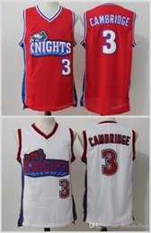 Wholesale Mike Knight - Hollywood Movie Like Mike LA Los Angeles Knights Jerseys Basketball 3 Cambridges Jersey White Red Basketball Jerseys Cheap
