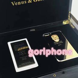 Batería esqueleto online-Gold Gold Skeleton Plating Volver carcasa de la cubierta de la batería de la piel Puerta para iPhone 7 7 + 24 k oro de alta calidad para iphone7 oro verdadero esqueleto de lujo