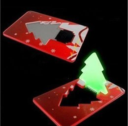 Wholesale F Foot - Creative Protable Mini Card PocketLight Bulb Christmas Tree Shape Small Night Light Cute Put In Wallet Decoration JF-497