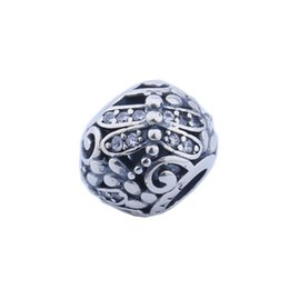 Wholesale Dragonfly Charms Jewelry - Dragonfly Meadow Charms Bead Authentic 925 Sterling-Silver-Jewelry Pave CZ Flower Beads DIY Brand Bracelets Jewelry Making Accessories