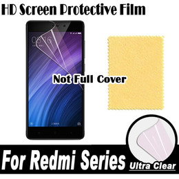 Wholesale Iphone Display Film - Wholesale- HD Clear Screen Protector Display Protective Soft Film For XiaoMi RedMi Note 4 4X 4A 3 3X 3S 2 2A Pro Prime