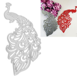 Wholesale Hot Stencil - Peacock Metal Cutting Dies Stencils DIY Scrapbooking Album Decorative Embossing Folder Suit Paper Cards Die Cutting Template Hot