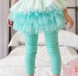 Wholesale Culottes Leggings - Children Skirt Leggings Baby Clothing Child Summer Shorts Girls Lace Tights Skinny Pants Fashion Bowknot Princess Leggings Kids Culottes