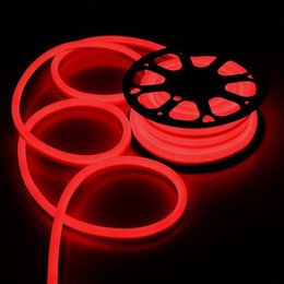 Wholesale Wire Rope Roll - 25M Roll AC110 AC220V SMD2835 LED Neon Flex Strip Light 6W LED Neon Rope Light 120LEDS Beer Rope LED Neon Light