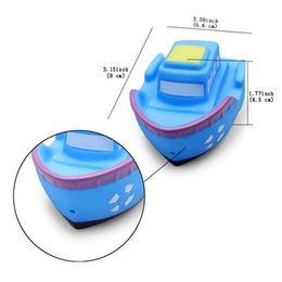Wholesale Doll Boat - Baby Bathing Play Water Doll Non-Toxic Without Danger Floating Boat Toys Rubber Bath Squirt Toys For Baby Set Of 6
