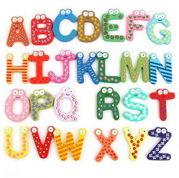 Wholesale Numbers Magnets Set - Free Shipping 2016 26m pcs set Creative Wooden Fridge Magnet Sticker, Refrigerator Magnet Number Operation Symbol