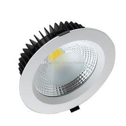 Wholesale Recessed Power - High Power COB LED Downlights Dimmable 10W 15W 20W 30W Recessed LED Downlight Ceiling Down Lights Lamps Indoor Light Lighting 110V 220V