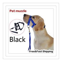 Wholesale Mouth Dogs - Wholesale 2016 Hot Pet Dog Muzzle Adjustable Nylon No Harm For Dog Muzzle Stop Bite Bark Dog Mouth Mask Free Shipping