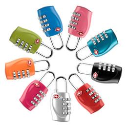 Wholesale Luggage Locks - Mini 4 Dial TSA Combination Resettable Padlock Customs Luggage Suicase Security Lock For Handbag Drawer Travel Backpack 4 Digit Code Locks