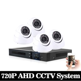 Wholesale Home Video Surveillance System Kits - NINI HD 1080P HDMI 4ch CCTV System 4 channel DVR KIT 720P Video Recorder with 1200TVL Security Camera Home Surveillance