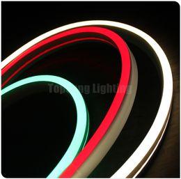 24v неон Скидка 25 м катушка плоская ультратонкая светодиодная неоновая подсветка гибкая лента neon-flex rope 11x19mm 24v 12V для метро