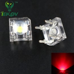 Wholesale Leds Flux For Cars - Wholesale- 100pcs LED 5MM RED Piranha Super Flux Leds 4 pin Dome Wide Angle Super Bright Light Lamp For Car Light High Quality