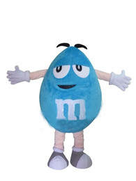 Wholesale Chocolate Mascot - Blue MM chocolate candy mascot costume (can change color) wholesale adult size cartoon candy theme carnival fancy dress 3441