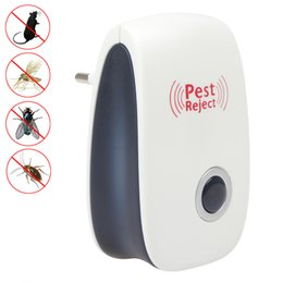Wholesale Electronic Ultrasonic Anti Mosquito - EU US Electronic Ultrasonic Anti Pest Insect Bug Mosquito Cockroach Mouse Killer Repeller Control 90V-250V HOA_801