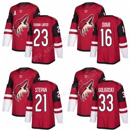 Wholesale Coyote Brown Xl - 2018 AD New 23 Oliver Ekman-Larsson Jersey Custom Arizona Coyotes Ice Hockey Jerseys Red 21 Derek Stepan 33 Alex Goligoski 16 Max Domi