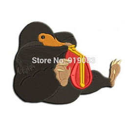 "Wholesale Iron Harry Potter Patch - 3"" Fantastic Beasts and Where to Find Them patch Newt Scamander harry potter applique iron on badge collector gift"