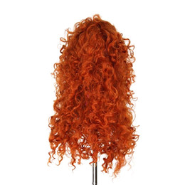 Wholesale Brave Cosplay - Hair Synthetic Wigs WoodFestival brave wig cosplay orange long hair heat resistant wigs curly