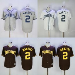 2017 johnny manziel jerseys 2017 Flexbase San Diego Padres # 2 Johnny Manziel Home Away Jersey Bleu Blanc Gris Crème Marron Camo Pullover Cool Base Stitched johnny manziel jerseys autorisation