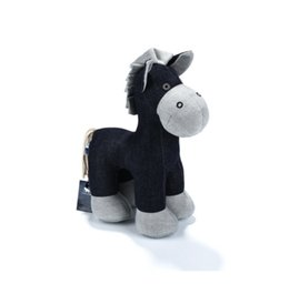 Wholesale Animal Farm Horses - Stuffed Animal Pony Handmade Denim Plush Animal Pony Horse Cute High Quality Environmental Demin Fabric Filling Plush Material