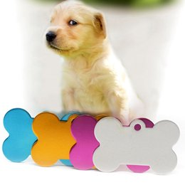 Wholesale Engraving Supplies - 3.8*3.5Cm Pet Tags Dog ID Tag Pet Accessories Stainless Steel Hangtag Can Engrave Words On Shiny Colors Available Pet Supplies