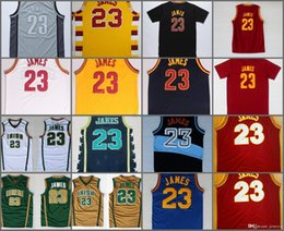 Wholesale Newest Arrival - 2017 Newest Arrival #23 LeBron James Chinese Sports Jersey Wholesale Cheap Blue White Red Yellow Stitched Jerseys With Player Name Size S-2X
