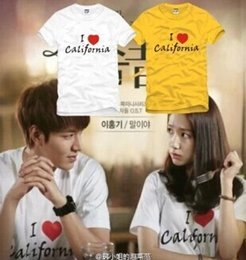 Wholesale california fashion men - Mens t shirts fashion 2017 couple t shirt for lovers,lovers t-shirt,i love california,summer,t shirts for couples