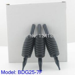 Wholesale Tattoo Magnum Tubes - Wholesale-20pcs 25mm Black Flat Magnum FT7 Disposable Tattoo Grip Tube Supply BDG25-7F#