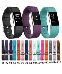Wholesale Silicone Belts - Lowest price For Fitbit Charge 2 Heart Rate Smart Wristband Bracelet Wearable Belt Strap For Fitbit Charge 2 Silicone Replacement Band
