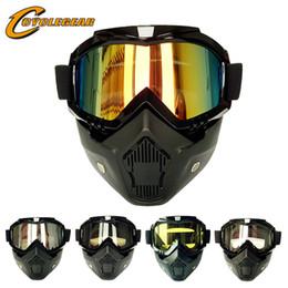 Wholesale Cs Fitting - Hot Promotion Motorcycle Goggles Retro Helmet Mask Glasses Dual Use Motocross Goggle Fitting Vintage Helmets Gafas CS CG06