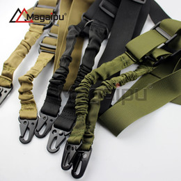 Wholesale Sling System - Magaipu Tactical Two Point Rifle Sling System Strap Adjustable Hunting Bungee Airsoft Gun Sling Nylon Gun Strap