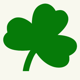 Wholesale Patriots Stickers - Wholesale Beautiful Irish Shamrock Plant Graphic Car Sticker for Clean Car Tractor Mower SUV Door Laptop Patriot Decoration Vinyl Decal