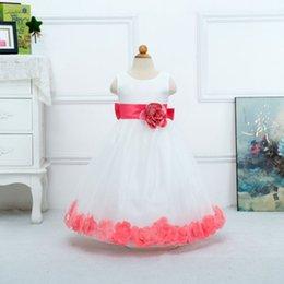 Wholesale Tulle Flowers For Headbands - A-Line Flower girl dresses for wedding 2016 Tulle Dress Appliques Flower Girl Dresses Appliques Pleat flower girl headband