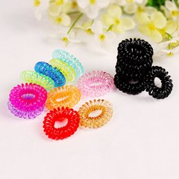 Wholesale Green Telephones - Crystal Telephone line hair bands ring thickening Gum Elastic Hair Band Ponytail Women Girls Rope Hair Scrunchy S003