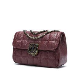 Wholesale White Patent Leather Handbags Sale - factory sales and new leather handbags small real diamond color elephant pattern chain bag retro diamond sheepskin handbag