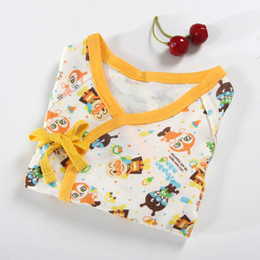 Wholesale Long Sleeve New Baby Bodysuit - 1 Piece New Born Pure Cotton Cartoon Printed Jumpsuits Long Sleeve Baby Clothes Infant Product Baby Outfit Bodysuit