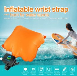 Wholesale Floating Cylinder - Anti Drowning Bracelet Swim Surf Outdoor Water Wrist Self Rescue Float Wristband With Co2 Cylinder Lifesaving Bracelet CCA6681 5pcs