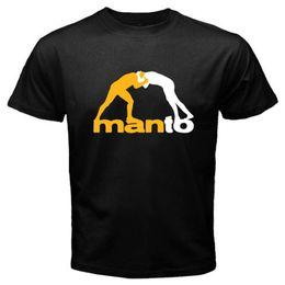 Wholesale Brazilian Art - New MANTO Brazilian Jiu Jitsu Martial Art Men's White Black T-Shirt Size S-2XL New 2017 Fashion Mens T Shirts Loose Clothes