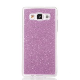 Wholesale Mobile Phone A8 - For Samsung Galaxy A8 2015 A800 A800F Cover Fashion Bling Glitter Gradient Mobile Phone Case Soft TPU Frosted Shimmering powder Phone Case