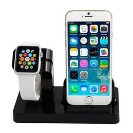 Wholesale Quick Watch - 2 in 1 USB Sync Charge Dock For iWatchs Watch & For Apple iPhone 5 5S 6 6S 7 7 Plus Charging Dock Station Cradle Stand Holder