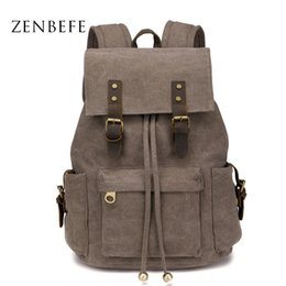 Wholesale Good Quality Laptops - Wholesale- ZENBEFE Large Capacity Travel Backpack Vintage Women'S Backpack Durable Student School Bags Good Quality Backpacks For Laptop