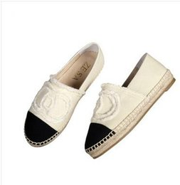 Wholesale Plus Size Black Slip - 2017 New arrival Top quality classic Luxury brand ladies Breathable Thick bottom flat Canvas loafer Espadrilles loafers shoes plus size