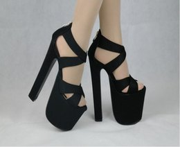 Wholesale sandal 17cm - 2017 HOT New Sexy Women Pumps 17CM Round open toe Ultra Thick high heel sandals Women Shoes Simple Women's Singles Shoes Size 34-39