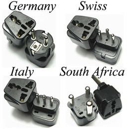 Wholesale Swiss Adapter - Universal Swiss Switzerland Italy Germany Small Big South Africa AC Power Plug Converter Adapter Electrical Adaptor Travel Charger Socket