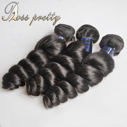 Wholesale Hair Colour 12 - Ross pretty competitive price grade 7a silky loose wave Peruvian hair 3piece lot for fulll hair unprocessed remy hair bundles natural colour