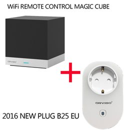 Canada Vente en gros-Orvibo Allone MAGIC CUBE Smart Accueil Automation System Controller Télécommande IR + WiFi Orvibo B25 WiFi Cell Phone prise de courant supplier cell control system Offre