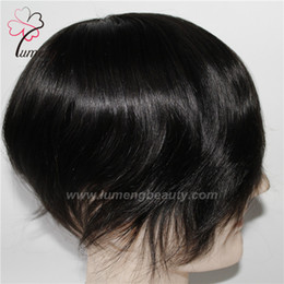 Wholesale Best Quality Remy Hair Wigs - Best Quality Mono with PU Remy Hair toupee men