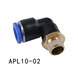 """Wholesale Pneumatic Push - 10pcs Lot Pneumatic 10mm Tube to 1 4"""" BSP Male Thread Elbow Connector Push In Fitting APL10-02"""