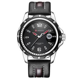 Wholesale Tv Wrist Watches - watch tv on computer NEW Curren Brand Men Sport Watches Men's Quartz Date Clock Male Casual Leather Strap Wrist Watch relogio masculino