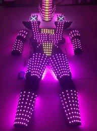 Wholesale Party Robots - LED Robot Suit Costume LEDS Party Show Glow Night Lights Robots