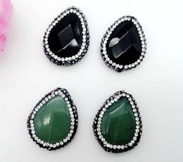 Argentina 10 PCS Piedras de gema natural Piedras semipreciosas mezclar perlas de moda colgante gota lágrima encantos de moda para la fabricación de collar de la joyería Suministro